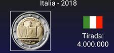 VENDO MONEDA DE 2 EUROS CONMEMORATIVA  ITALIA  2018. S/C