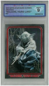 """1999 Topps Star Wars Chrome Archives """"WELCOME, YOUNG LUKE!"""" #41💎DSG 9 Mint"""