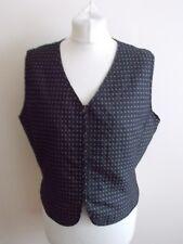 Women's Grey Silver Red  V Neck Waistcoat Vest Liz Claiborne Size 12 US 16 UK