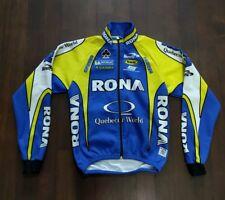 BIEMME RONA Quebecor World Long Sleeve Full Zip Winter Cycling Jersey Sz 2 Small