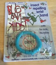 Bug Ban for kids insect repelling wristband Deet Free Blue New Mosquito Zika