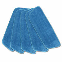 "5 Pack Replacement Washable Blue Microfiber Mop Cleaning Pads for 15"" Flat Mop"