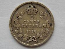 1919 Canada 5 Cents Coin   SB5918
