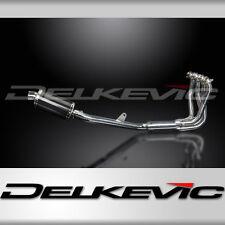 "Honda CB1100 X11 Full 4-1 Stainless Exhaust 9"" Carbon Muffler 99 00 01 02 03"