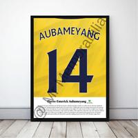 Pierre-Emerick Aubameyang Reds in Arsenal Football Gift Framed Poster