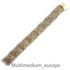 Silber Armband Markasit Filigran vergoldet silver bracelet filigree vermeil 30er