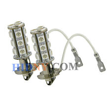 A Pair Of H3 18-SMD 5050 LED SMD Fog Lights DRL Driving Lamp Amber Color Strobe