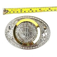 DOLLAR SIGN OVERSIZE Belt Buckle Western Cowboy SILVER HIGH QUALITY Guaranteed