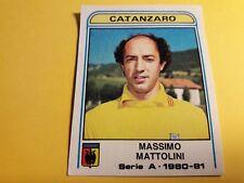 MATTOLINI CATANZARO FIGURINA ALBUM CALCIATORI PANINI 1980/81 n°128 rec
