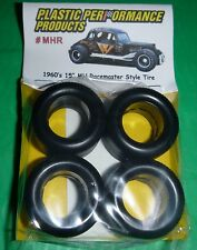 "NASCAR MHR 1/25 60s 15"" M&H RACEMASTER TREAD TIRES SET STOCK CAR MODEL PPP"