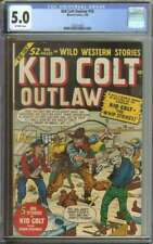 KID COLT OUTLAW #10 CGC 5.0 OW PAGES