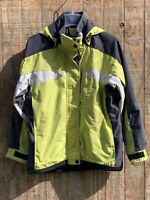 Columbia Women's Winter Ski Jacket Coat Size Small Lime Green Hooded Coat