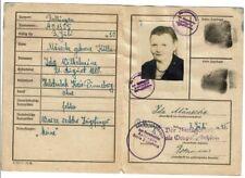 Ausweis 1945 Rellingen Mänecke Kölln Halstenbek Besatzung Foto Stempel Dokument