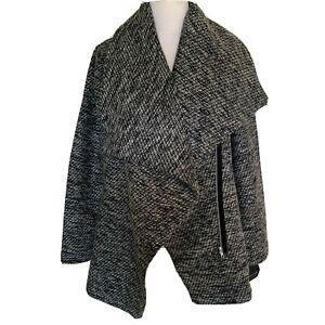 NWT Marc New York dark grey polyester asymmetrical zipper jacket size XL