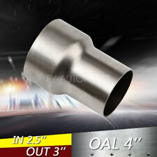 """2.5"""" ID to 3"""" OD Universal Exhaust Pipe to Component Adapter Reducer Connector"""