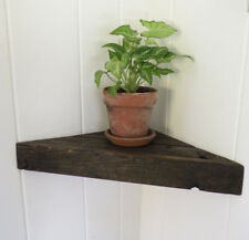 Reclaimed Barn Wood Floating Corner Shelf Rustic Chic Primitive Cabin Country