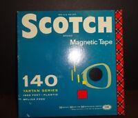"Vintage Scotch Magnetic Recording Tape 5"" Reel 1/4"" .25 Inch Tartan Series #140"