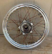 1970's Harley Sportster Superglide Front  Disk Brake Wheel & Hub 19 X 2.50 (352)