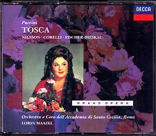 PUCCINI: TOSCA Birgit Nilsson Franco Corelli Dietrich Fischer-Dieskau MAAZEL 2CD