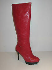 Guess fl4elglea11 [Size 40] Women's Leather Boots Thigh Red New & Original