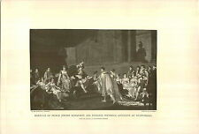 1897 Napoleon Marriage Prince Jerome Bonaparte Princess Frederica Catherine Prnt