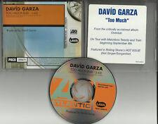 DAVID GARZA Too Much EDIT PROMO CD Train & Matchbox 20