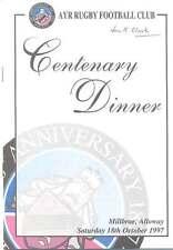 Ayr Centenary Dinner 18 Oct 1997 Dinner Menu & Guest List Booklet