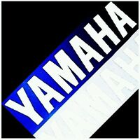 Yamaha REFLECTIVE WHITE 5in 12.7cm decals decal fazer r1 r6 yzf zuma fz ttr fzr