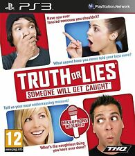 TRUTH OR LIES SOMEONE WILL GET CAUGHT PAL Royaume-Uni PS3 NEUF et scellé