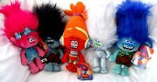 "Trolls 10""-14"" Poppy,Mean Branch,DJ Suki,Guy Diamond Plush,Branch,& Fuzzbert Set"