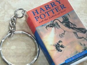 Harry Potter keyring Keychain The Goblet of Fire Mini Book