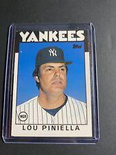 1986 Topps Traded Lou Piniella  #86T New York Yankees