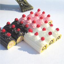 5x Random Miniature Dollhouse Long Cream Bun Bread Kitchen Food Dinner Decor