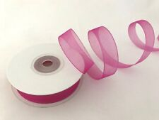 "5/8"" Organza Sheer Ribbon Solid Assorted Colors Rolls Spools 25 yards New"