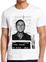 Steve Mcqueen Mugshot T Shirt Vintage Cool Tee 33