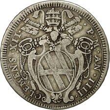[#481737] ITALIAN STATES, PAPAL STATES, Clement XII, Testone, 30 Baiocchi, 1734