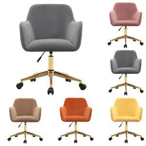 Orthopedic Velvet Swivel Office Chair Home Computer Desk Study Adjustable Back