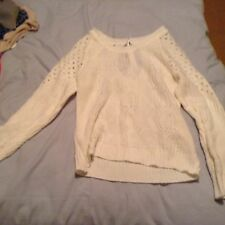 White knitted jumper size s ladies