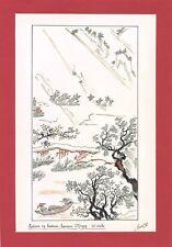 Dessin encre de chine & aquarelle Japon Hand made china ink signé Geneviève n6