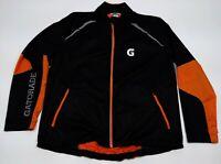 GATORADE Women's XXL Orange & Black Full Zip Windbreaker Jacket Rare Streetwear