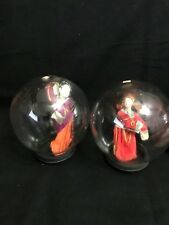 VINTAGE JAPANESE CHINESE THEATER HAND MADE DOLLS IN GLASS DOME