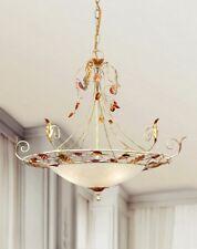 Lampadario classico 3 luci in metallo avorio fiorentino coll. Dese 4020-3S