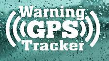 4x  Warning GPS tracker Car Van Wall Window Laptop Bumper vinyl decal stickers 4
