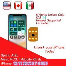 50 x NYturbo Unlock Turbo Sim Card for iPhone 11 XS X 8 7 6S 6 Plus + 5S SE Lte