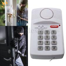 Wireless Door Alarm System Security Keypad W/ Panic Button For Home Garage Door