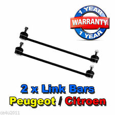 Peugeot 206 CC 1.6 1998-2009 2 x Front Drop Stabiliser Anti Roll Bar Links PAIR