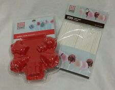 Cake Pop Press Baking Mold by Sweet Creations - CHRISTMAS designs - red - NIP