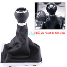 6 Speed Gear Shift Knob Stick Lever Gaitor Gaiter Boot Cover For VW Passat B6 AF