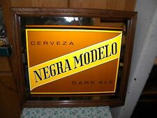 Rare Negra Modelo Lighted Sign Homemade by Hand using mirror sign