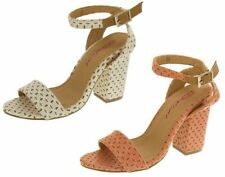Strappy, Ankle Straps Standard (B) Textured Heels for Women